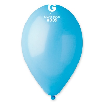 "BALLOONS 12"" LIGHT BLUE COLOR 100 pcs."