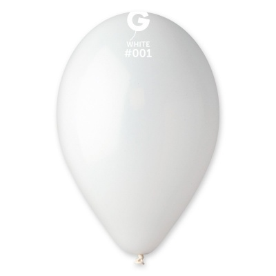 "BALLOONS 12"" WHITE COLOR 100 pcs."
