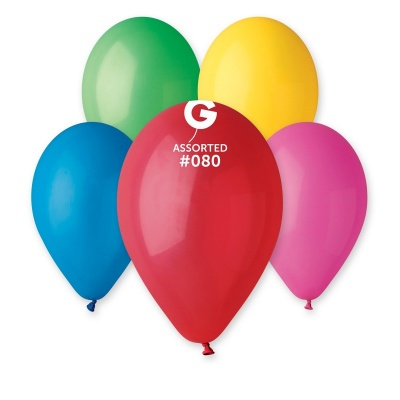 "MIX COLOR BALLOONS 12"" 100 pcs."