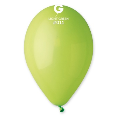 "LIGHT GREEN BALLOONS 12"" 100 pcs."