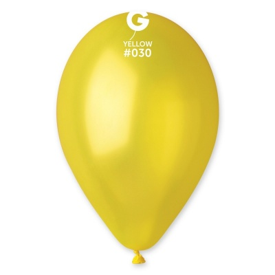 "COLORED BALLOONS 10""  YELLOW PEARL 100 pcs."