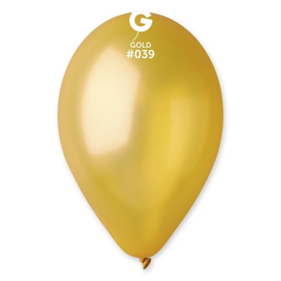 "COLORED BALLOONS 10""  METAL GOLD 100 pcs."