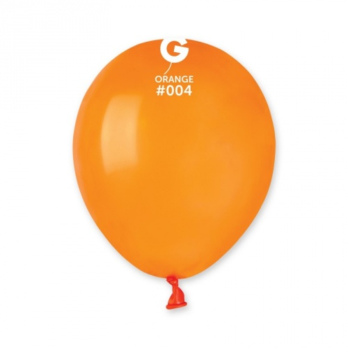 COLORED BALLOONS 5'  ORANGE 100 pcs.