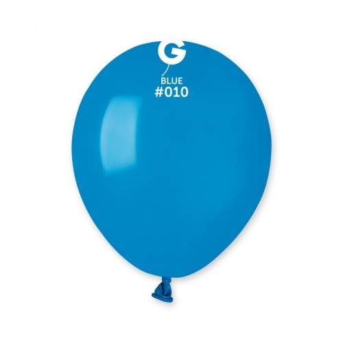 COLORED BALLONS 5'  BLUE 100 pcs.