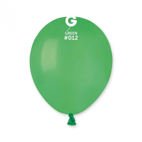 COLORED BALLOONS 5'  GREEN 100 pcs.
