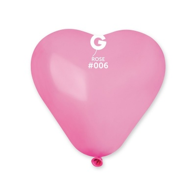 COLORED BALLONS HEART 6  inch PINK COLORS 100 pcs.