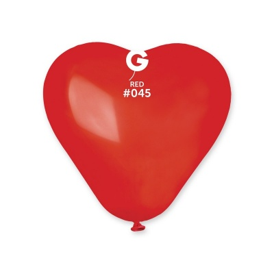 COLORED BALLONS HEART 6  inch RED 100 pcs.